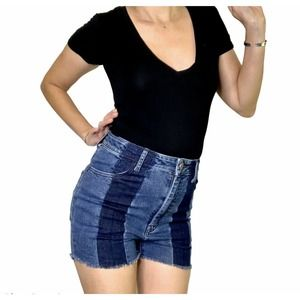 SHOW ME YOUR MUMU Jean Shorts Size S Stretch NEW